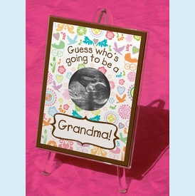 Guess Who's Going to be a Grandma Sonogram Frame - click to enlarge