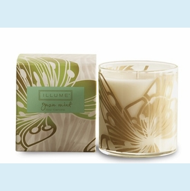 Happiology Yuzu Mint Demi Boxed Glass Candle - click to enlarge