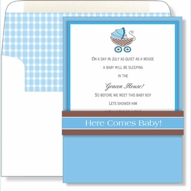 Here Comes Baby! Pocket Invitation - click to enlarge
