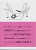 High Heel Journey Birthday Card
