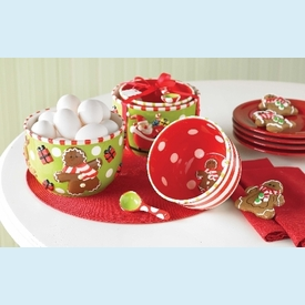 Holiday Mixing Bowls & Spoon Set - click to enlarge