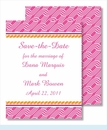 Hot Pink Chain w/Orange Rope Small Flat Cards