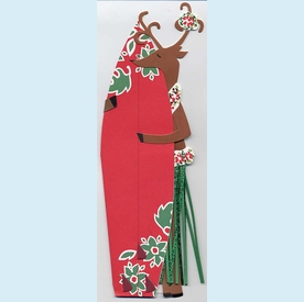 Hula Reindeer w/Surfboard Invitation - click to enlarge