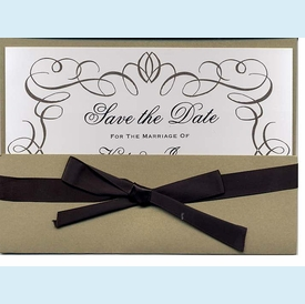 Ink Script Pocket Ensemble Invitation - click to enlarge