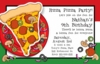 Izza Pizza Party Invitation
