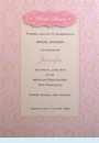 Jennifer Pink Shower Invitation