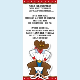 Joe Cowboy Western Party Invitation - click to enlarge