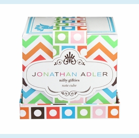 Jonathan Adler Multi Chevron Notecube - click to enlarge