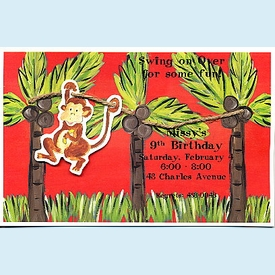 Jungle Monkey Invitation - click to enlarge