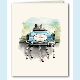 Just Married Thank You Notes - click to enlarge