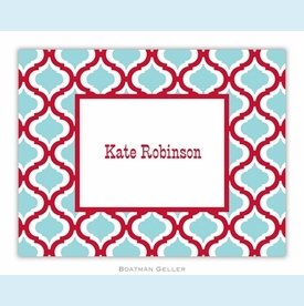 Kate Red & Teal Folded Notes (set/25) - click to enlarge