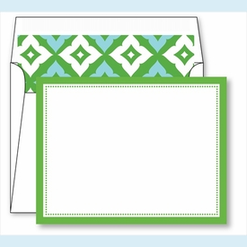 Kelly Border Small Flat Cards w/Coordinating Liner - click to enlarge