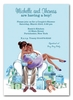 Kisses for Baby Blue Invitation (Multicultural)