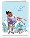 Kisses for Baby Blue Thank You Notes (Multicultural)
