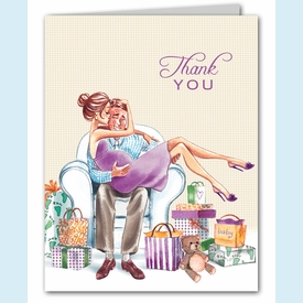Kisses for Baby Neutral Thank You Notes (Brunette) - click to enlarge