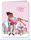 Kisses for Baby Pink Thank You Notes (Multicultural)