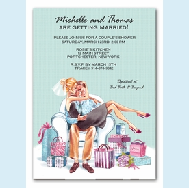Kissing Couple Invitation (Blonde) - click to enlarge