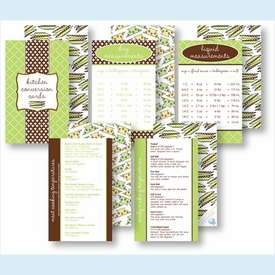 Kitchen Conversion Cards - Preppy Lime & Chocolate - click to enlarge