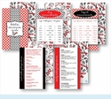Kitchen Conversion Cards - Preppy Red & Black