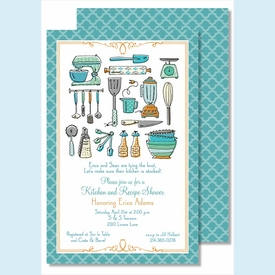 Kitchen Gadgets Large Flat Invitation - click to enlarge