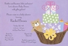 Lavender Baby Basket Invitation
