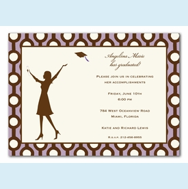 Lavender Graduate Invitation - click to enlarge
