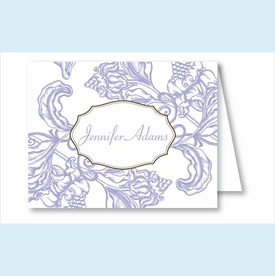 Lavender Wood Cut Floral Note Cards - click to enlarge
