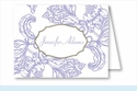 Lavender Wood Cut Floral Note Cards