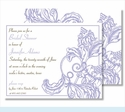 Lavender Wood Cut Floral Small Flat Cards
