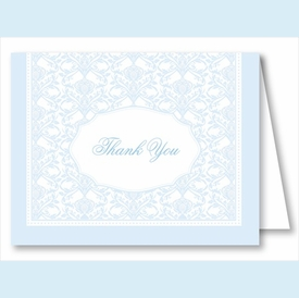 Light Blue Elegant Note Cards - click to enlarge