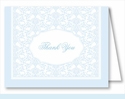 Light Blue Elegant Note Cards