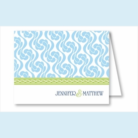 Light Blue Petal Vine w/Lime Rope Note Cards - click to enlarge