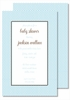 Light Blue Swiss Dot Large Flat Invitation
