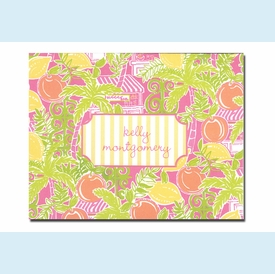 Lilly Pulitzer Juice Bar Folded Notes - click to enlarge