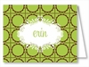 Lime Chocolate Scalloped Dots Note Cards