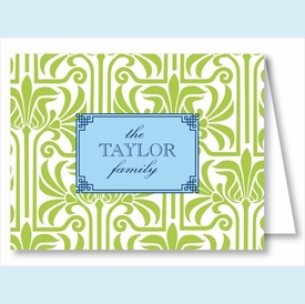 Lime Graphic Lily Note Cards - click to enlarge