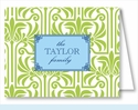 Lime Graphic Lily Note Cards