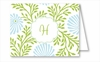 Lime/Light Blue Floral Note Cards