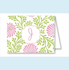 Lime/Pink Floral Note Cards - click to enlarge