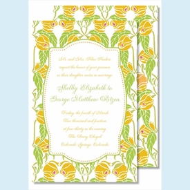 Lime/Yellow Garden Large Flat Invitation - click to enlarge