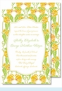 Lime/Yellow Garden Large Flat Invitation