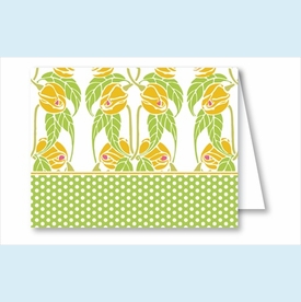 Lime/Yellow Garden Note Cards - click to enlarge