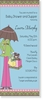 Long Baby Shower Umbrella Invitation