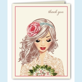 Lovely Lace Thank You Notes - click to enlarge
