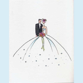 Lulu Wedding Couple Notecards - click to enlarge