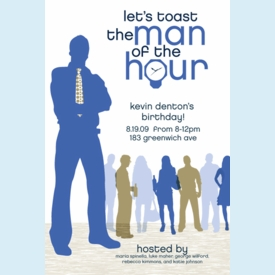 Man of the Hour Invitation - click to enlarge