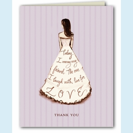 Marry My Friend Lavender Thank You Notes - click to enlarge