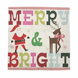 Merry & Bright Large Napkin - click to enlarge