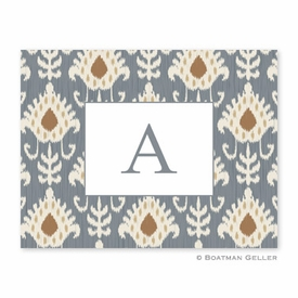 Mia Ikat Gray Folded Notes (set/25) - click to enlarge