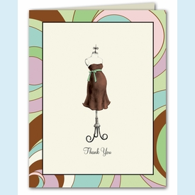 Mint Mom Dress Form Thank You Notes - click to enlarge